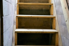 Egress stairway in basement